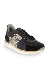Aquatalia By Marvin K Nanette Combo Sneakers Black