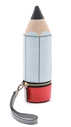 Anya Hindmarch Pencil Clutch Light Blue