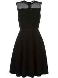 Burberry London Mesh Panel Dress Black