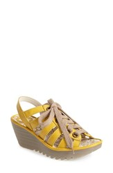 Women's Fly London 'Yito' Sandal Yellow Cashmere