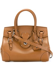 Ralph Lauren Buckle Detail Tote Brown