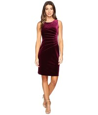 Ivanka Trump Velvet Starburst Dress Plum Women's Dress Purple