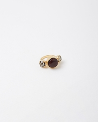 Marni Horn Crystal Ring Dark Red