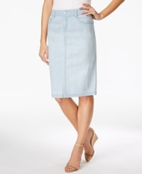 Charter Club Denim Skirt Only At Macy's Feather Blue