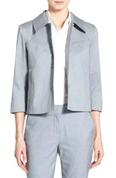 Women's Nordstrom Collection Crop Stretch Cotton Jacket