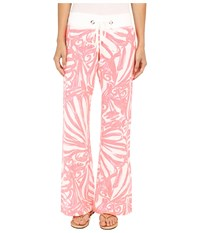 Lilly Pulitzer Beach Pants Pink Sun Ray Shimmy Shimmy Women's Casual Pants