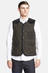Junya Watanabe Quilted Down Vest Gray