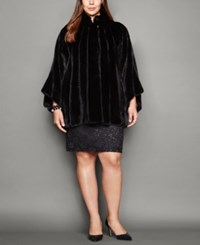 The Fur Vault Plus Size Mink Cape