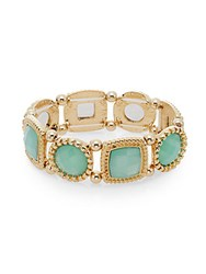 Saks Fifth Avenue Stone Link Bracelet Gold