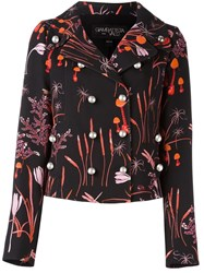 Giambattista Valli Printed Boxy Jacket Black