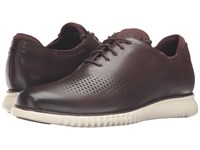 Cole Haan 2.0 Grand Laser Wing Oxford Chestnut Leather Ivory Men's Lace Up Casual Shoes Brown