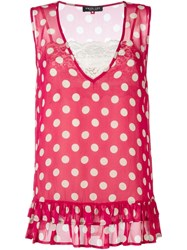 Twin Set Polka Dot Tank Pink And Purple