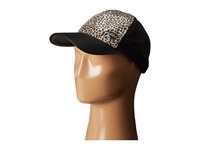 Betsey Johnson Sequin Cheetah Basball Hat Black Baseball Caps