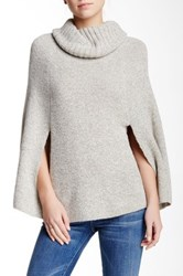 Dreamers By Debut Knit Cowl Neck Poncho Gray