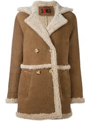 Sonia Rykiel By Double Breasted Coat Brown