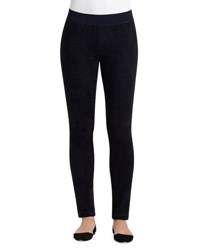 Lafayette 148 New York Skinny Combo Moto Pants Ink