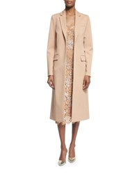 Michael Kors Long Open Front Wool Coat Suntan