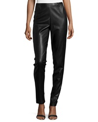 Caroline Rose Modern Faux Leather And Ponte Easy Leggings