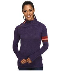 Smartwool Isto Sport Sweater Mountain Purple Heather Women's Sweater Metallic