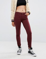 Pull And Bear Pullandbear Burgundy Skinny Jean Wine Purple
