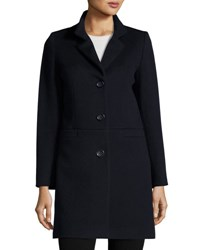 Cinzia Rocca Wool Blend Long Coat Navy