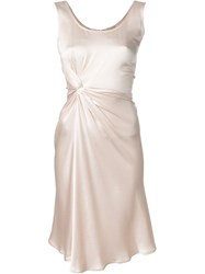 Christian Dior Vintage Draped Dress Nude And Neutrals