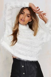Nasty Gal After Party Vintage Fuzz Off Crop Sweater