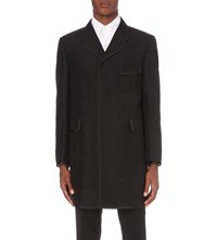 Thom Browne Chesterfield Wool And Mohair Blend Coat Black