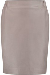 Golden Goose Deluxe Brand Jade Leather Mini Skirt Gray