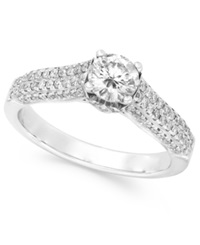 Effy Collection Effy Bridal Certified Diamond Engagement Ring In 14K White Gold 1 Ct. T.W.