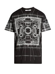 Givenchy Map Print Cotton Jersey T Shirt Black Multi