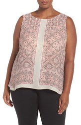 Nic Zoe Plus Size Women's 'Batik Nights' Print Tank Multi