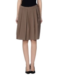 Alpha Studio Knee Length Skirts Khaki