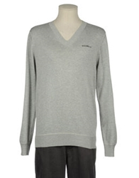 Firetrap V Necks Light Grey