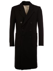 08Sircus Double Breasted Mid Length Coat Black