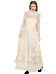 Alberta Ferretti Embroidered Silk Organza Dress