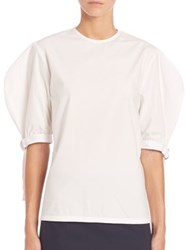 J.W.Anderson Puff Sleeve Blouse White
