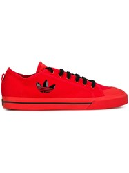 Raf Simons Adidas By Logo Lateral Sneakers Red