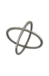 Bony Levy Women's Crossover Diamond Ring Nordstrom Exclusive Black Gold