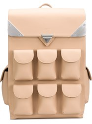 Valas Multiple Pockets Backpack Nude And Neutrals