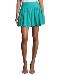 Red Valentino Pleated Mini Circle Skirt Pavone