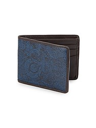 Robert Graham Paisley Slimfold Wallet Blue