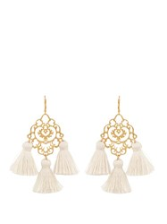Marte Frisnes Rita Tassel Earrings Ivory