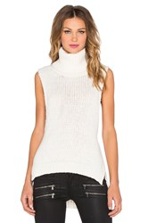 Enza Costa Turtleneck Vest Ivory