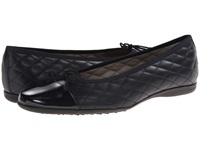 French Sole Passportr Navy Patent Navy Leather Women's Dress Flat Shoes