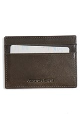 Men's Johnston And Murphy Leather Card Case Grey Charcoal