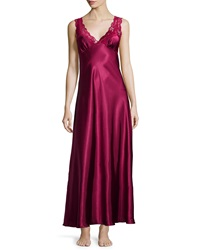 Jonquil Taylor Lace Front Satin Long Gown Navy