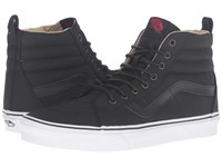 Vans Sk8 Hi Reissue Pt Military Twill Black True White Skate Shoes