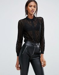 Goldie Hooked On You Lace Blouse Black