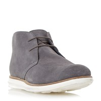 Dune Cove Suede Hybrid Wedge Boots Grey